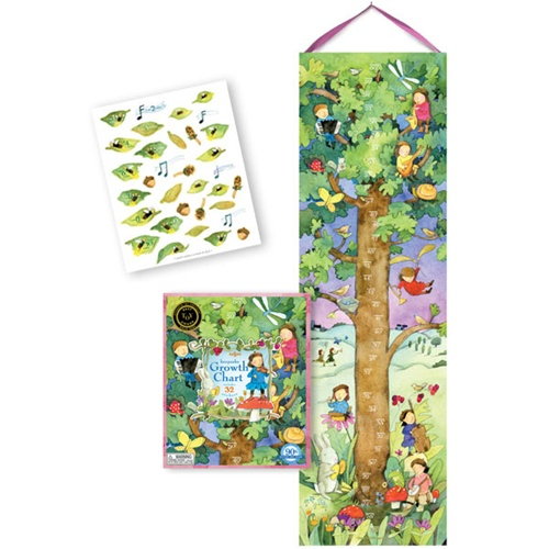 Eeboo Musical Fairy Tree Growth Chart Baby Gift Shower Gift