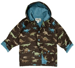 Hatley Dinosaurs Raincoat, rainwear, safe, eco-friendly, PVC-free, my little green shop, Vancouver, Phthalate free, toddler, baby, online, water proof, cute, downtown vancouver, kids, baby, terry lining,  boys, raincoat, online store, Hatley Raincoat