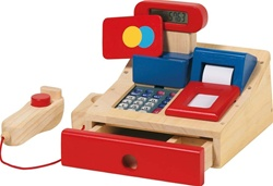Goki Grocer's Till, Goki, my little green shop, vancouver, bc, canada, safe, gift, wooden toys, kids store, online store, non-toxic, wooden cash register, play, play register, toddlers,downtown Vancouver, online, eco-friendly, pull toys, durable, wooden,