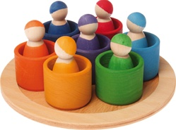 Grimm's 7 Rainbow Friends in 7 Rainbow Bowls, my little green shop, vancouver, bc, canada, safe, gift, wooden toys, kids store, online store, non-toxic, wood toys, toddlers,downtown Vancouver, online, eco-friendly, heirloom toys, Grimm's, colourful