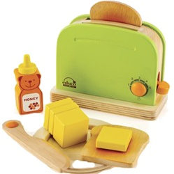 Educo Rise n' Shine Toaster, toy store, kid store, gift,  toddler, imaginative, fun, eco-friendly, sustaniable, vancouver, bc, downtown vancouver, online, kids online store, safe, educational, Educo, preschoolers, play kitchen, role play, play toaster