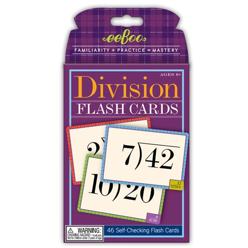 online division flash cards