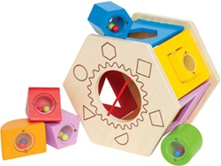 Hape Shake and Match Shape Sorter, toy store, kid store, toddler, imaginative, fun, eco-friendly, vancouver, bc, downtown vancouver, online, kids online store, safe, Educo, toddlers, gift,  shape sorter, canada, learning toy, educational, Hape