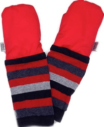 Classic Mittens, my little green shop, vancouver, bc, canada, online, cozy, soft, warm, Oeko-Tex certified, bamboo/cotton fleece,  eco-friendly, classic design, girls mittens, baby, made in Canada, downtown vancouver, online store, boys, unisex, striped