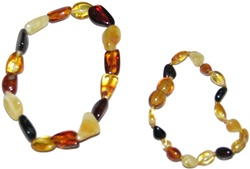 Baltic Amber Baby Mommy Baby Bracelet Set, teething relief, downtown vancouver,  my little green shop, vancouver, bc, teething pain relief, natural, baltic bracelet, amber bracelet,  online, online store, baby store,canada, mommy baby bracelet set