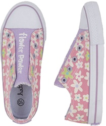 Hatley Fresh Flowers Sneakers, my little green shop, vancouver, bc, canada, non-toxic, PVC free, online, online store, kids store, downtown vancouver, west end, girls sneakers, summer shoes, Hatley, eco-friendly, kids shoes, canvas shoes, shoes, flowers