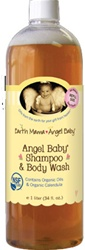 Earth Mama Angel Baby Shampoo/Wash, my little green shop, vancouver, downtown vancouver, bc, online, canada, 1 liter, safe, organic, natural, earth mama angel baby, baby store, shower gift, baby, shampoo, baby wash, soap, baby, infant, newborn, rerfill