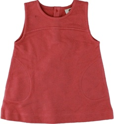 Kate Quinn Mineral Red Autumn Jumper, toddler, downtown Vancouver, online store, baby store, kids store. little girl, autumn dress, stylish, 100% organic cotton, vancouver, comfortable, soft, my little green shop, made in the USA, bc, canada, Kate Quinn
