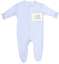bossy baby, romper, footed romper, baby, 100% organic, cotton, soft, cozy, eco-friendly, my little green shop, footed sleeper, Organic, boys, baby, blue, cute, sleeper, vancouver, bc, online, BC, Canada, downtown Vancouver, baby store, baby pjs, sleepers