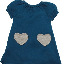 Oeuf Heart Dress, my little green shop, oeuf, dress, alpaca, clothing, kids, wool, winter, designer, eco-friendly, fair trade, teal, grey, girls, girls dresses, oeuf grey heart dress, teal heart dress, online, online store, Vancouver, downtown Vancouver