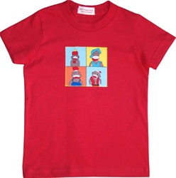 Red Thread Funny Monkey Tee, my little green shop, vancouver, bc, canada, online store, kids store, baby store, canada, 100% cotton tee, short sleeved, monkey tee, cute, soft, kids, girl, boy, gift, eco-friendly, made in Canada, red Thread, boys t-shirts
