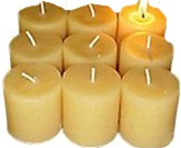 Bee Glow Tea light Candles, 6 pack, my little green shop, vancouver, bc, canada, eco-friendly, gift, mom, bc, canada, online store,beeswax candles, tealight candles, pure, beeswax, non-toxic, Bee Glo, made in Canada, safe, handmade,