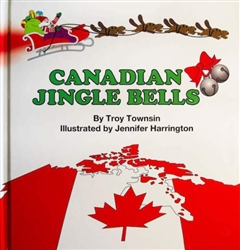Canadian Jingle Bells, hard cover book, my little green shop, vancouver, bc, canada, books, eco-friendly, downtown vancouver, online store, online, kids books, kids, Jennifer Harrington, book, childrens books, made in Canada, Troy Townsin