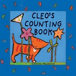 Barefoot Books Cleo's Counting Board Book children's book, my little green shop, vancouver, bc, canada, eco-friendly, toddler, counting book, downtown vancouver, online store, online, online store, , kids, baby books, board books, numbers book