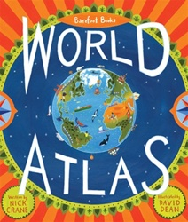 Barefoot Books World Atlas, my little green shop, vancouver, bc, canada, kids atlas, eco-friendly, world atlas, downtown vancouver, online store, barefoot books, online, online store,atlas, colourful, kids, Nick Crane, David Dean