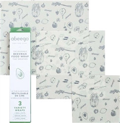 Abeego Set of 3 Small, Med and Large, my little green shop, vancouver, eco-friendly, convenient, eco-friendly, safe, online store, beeswax, wraps, bc, canada, BPA-free, kid store, downtown vancouver, reusable, food wraps, Abeego, kitchen store
