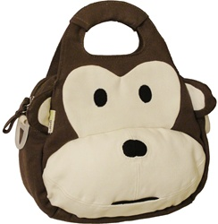 Ecogear Monkey Lunch Tote, downtown vancouver, online store, kids store, baby store,  lunch bag, cute, stylish, kids, lunch, preschool, daycare, non-toxic, lead free, safe, eco-friendly, BPA free, lunch box, bc, canada, ecogear, litterless lunch, online