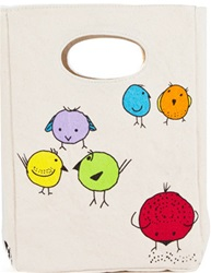 Fluf Lunch Bags, my little green shop, vancouver, eco-friendly, online store, cute, school lunch bag, kids, downtown Vancouver, downtown, lunch bag, bc, canada, lead-free, non-toxic, Phthalate free, lunch sack, organic cotton, certified organic, fluf