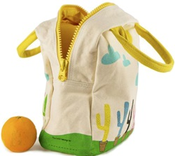 Fluf Zip Lunch Bags, my little green shop, vancouver, eco-friendly, online store, cute, school lunch bag, zippered, downtown Vancouver, lunch bag, bc, canada, lead-free, non-toxic, Phthalate free, lunch sack, organic cotton, certified organic, fluf