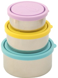 Kids Konserve Stainless Steel Nesting Trio Food Containers, my little green shop, vancouver, eco-friendly, environmental. online, convenient, healthy snack, safe food storage, bc, canada, BPA-free, 100% recyclable, BPA free,  Phthlate-free, 3 sizes