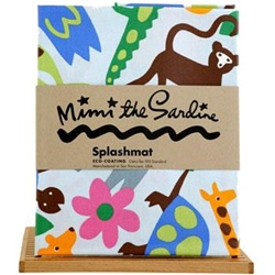 Mimi the Sardine Spillmats, splashmat, my little green shop, vancouver, bc, made in usa, online kid store, kids store, baby store, kids shop, eco-friendly, birthday gift, art, apron, boy, girl, Oeko-Tex 100 standards, non-PVC, downtown Vancouver, online