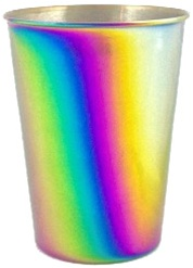 ONYX 9 oz Rainbow Tumbler, my little green shop, vancouver, eco-friendly, environmental. online store, 18/8 grade stainless steel, mealtime, food, bc, canada, safe, non-toxic, 100% recyclable, baby store, downtown vancouver, kitchen store, onyx, kids cups