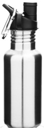 ONYX 18 oz/532 ml Stainless Steel Bottle, my little green shop, vancouver, eco-friendly, online, 18/8 grade stainless steel, , mealtime, food, bc, canada, safe, non-toxic, 100% recyclable, water bottle,  downtown vancouver, onyx, black, 18 oz, 532 ml,