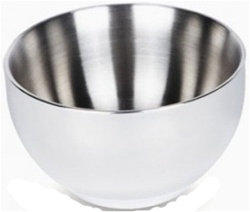 ONYX Double Walled Medium Bowl, my little green shop, vancouver, eco-friendly, environmental. online, 18/8 grade stainless steel, mealtime, food, bc, canada, safe, non-toxic, baby store, downtown vancouver, kitchen store, hot food, baby food, desert bowl