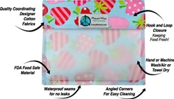 Planet Wise Window Sandwich Bags, my little green shop, vancouver, eco-friendly, convenient, velcro opening, funky, snack bag. online store, non-toxic, sandwich bag, kids, school, food, bc, canada, BPA-free, kid store, downtown vancouver, reusable