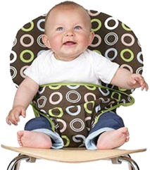 Totseat Travel Highchair, my little green shop, vancouver, eco-friendly, environmental. online store, phthlate-free, lead-free, downtown baby store, food, bc, canada, BPA-free, 100% recyclable, safe, non-toxic, oeko-tex certified