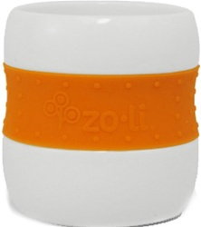ZoLi Gulp, my little green shop, vancouver, bc, canada, safe, eco-friendly, online store, ceramic cups, colourful, toddlers, girl, boy, BPA-free, downtown vancouver, ceramic tumblers, fun, cups, online, zoli, silicone sleeve, orange, purple, pink, 9 oz,