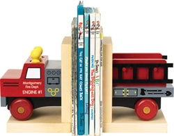 Maple Landmark Fire Truck Books Ends, eco-friendly, my little green shop, vancouver, bc, canada, online store, baby store, downtown vancouver, kids furniture, kids decor, safe, furniture, kids, non-toxic, safe, nursery, book ends, online, Maple Landmark