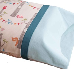 Organic Quilt Company Flannel Toddler Pillowcases, 100% organic cotton, soft, my little green shop, toddler, gift, bedding, luxurious, toddler pillowcase, natural, GOTS certified, made in canada, vancouver, bc, downtown vancouver, online store, canada