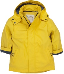 Hatley Classic Yellow Raincoat, rainwear, safe, eco-friendly, PVC-free, my little green shop, Vancouver, bc, canada, Phthalate free, raincoat, yellow raincoat, cute, youth, kids store, online store, downtown vancouver, childs rain jacket, kids, boys, girl