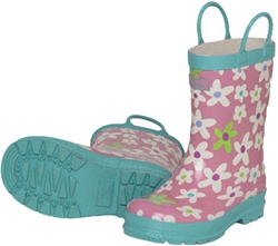 Hatley Fresh Flowers Rainboots, rainboots, safe, eco-friendly, PVC-free, my little green shop, Vancouver, bc, canada, Phthalate free, boots, online, cute, kids boots, kids store, online store, downtown vancouver, child's, Fresh Flowers, Hatley,