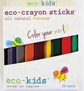 Eco-Kids Eco-Crayon Sticks 20-pack, my little green shop, vancouver, safe, downtown vancouver, eco-friendly, online store, crafts, colouring, crayons, soy crayons, natural, non-toxic, kids store, eco-kids, Beeswax, carnauba wax, soy wax,mineral pigment