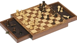 Goki Magnetic Chess Board with Two Drawers