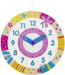 Goki Susibelle clock, Goki, my little green shop, Vancouver, BC, Canada, downtown Vancouver, Yaletown, online, online store, play clock, teaching took, teaching, learning, colourful,