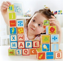 Hape ABC Blocks, stacking blocks, my little green shop, vancouver, bc, canada, safe, gift, building blocks, classic wooden blocks, colourful, kids store, online store, non-toxic, ABC Blocks, wooden blocks, toddler, wood blocks, Hape, downtown Vancouver