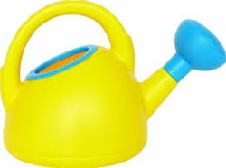Hape Watering Can, eco-friendly, PBA-free,no phthalates, vancouver, bc,my little green shop, west end, play,sand box,toys, downtown vancouver, online,online store, Canada, kids, toy store, safe, non-toxic, beach toys,toy watering can, Hape, yellow