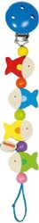 Heimess Pacifier Chain Fish, toy store, kid store, gift,  toddler, baby store, fun, eco-friendly, toy, vancouver, bc, downtown vancouver, online, kids online store, safe, clip figurines, stroller clips, hang toys, fish, coloiurful, Heimess, wooden, infant