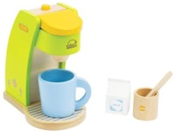 Educo Rise n' Shine Coffee Maker, toy store, kid store, gift,  kids, imaginative, fun, eco-friendly, sustaniable, vancouver, bc, downtown vancouver, online, kids online store, safe, educational, Educo, preschoolers, play kitchen, role play, coffee maker