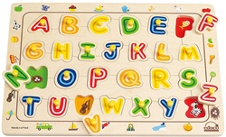 Educo ABC Matching Puzzle, my little green shop, non-toxic, BC, Canada, downtown vancouver, learning, alphabet puzzle, 18 months+, kids store, online store, baby store, downtown baby store, educational toy, eco-friendly, educo, toddler, safe, hape, puzzle