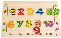 Educo Numbers Matching Puzzle, my little green shop, non-toxic paint, BC, Canada, downtown vancouver, learning, number puzzle, 18 months+, kids store, online store, baby store, downtown baby store, educational toy, eco-friendly, rubberwood, educo, toddler