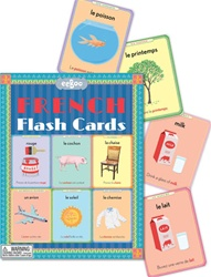Eeboo French Flash Cards, Vancouver, my little green shop, non-toxic inks, eeboo, BC, Canada, downtown vancouver, French, vocabulary, learning, fun, flash cards, 5 years+, kids store, online store, 90% recycle board, educational, French/English, online