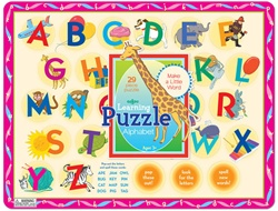 Eeboo Alphabet Tray puzzle, Vancouver, my little green shop, non-toxic paint, eeboo, BC, Canada, downtown vancovuer, alphabet, learning, fun, puzzle, 3 years+, kids store, online store, baby store, downtown baby store, 90% recycle board