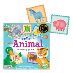 Eeboo Animal Memory Game, toy store, kid store, 3 years +, eeboo, eco-friendly, obstacle game, eco-friendly toy, vancouver, bc, downtown vancouver, online store, kids, safe, educational, kids games, kids, Canada, memory game, creative, preschool game,