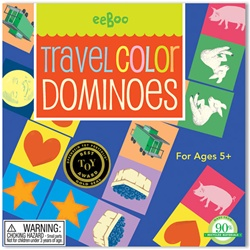 Eeboo Colour Travel Dominoes Game, toy store, kid store, gift, imaginative, fun, eco-friendly, colourful, measuring tape, eco-friendly toy, vancouver, bc, downtown vancouver, online store, kids games, safe, educational toys, preschool games, BC, dominoes