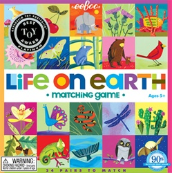 Eeboo Life on Earth Matching Game, toy store, kid store, gift,kids, childrens, eeboo, fun, eco-friendly, colourful, eco-friendly, vancouver, bc, downtown vancouver, online store, kids store, safe, educational, games, 5 yrs+, game, Canada, matching game