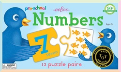 Eeboo Numbers Puzzles Pairs, toy store, kid store, gift, travel games, fun, eco-friendly, colourful,  eco-friendly toy, vancouver, bc, downtown vancouver, online store, kids online store, safe, educational toys, preschool games, fun games, number games,